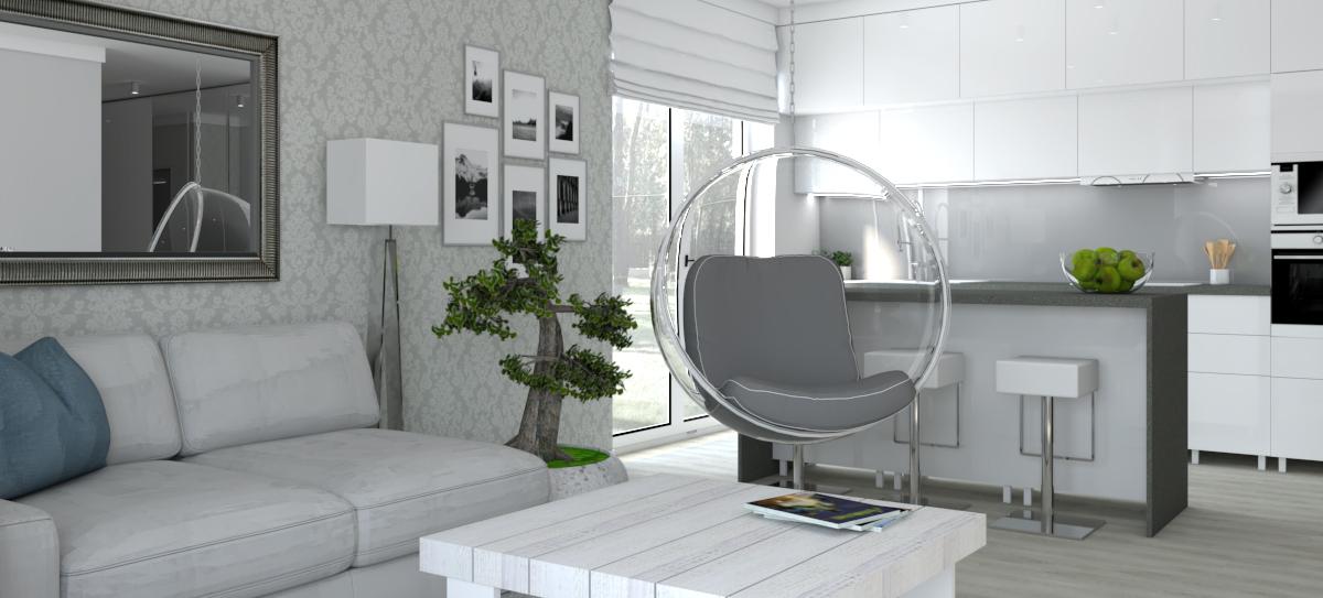 przytulny salon w stylu skandynawskim