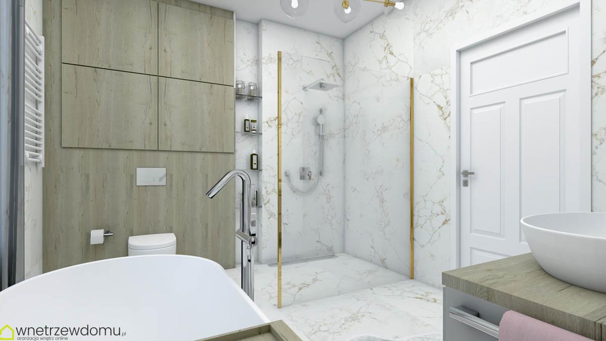 złoto i marmur łazienka