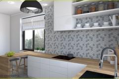 płytki imitujące beton w kuchni