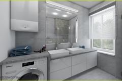 łazienka z dwiema umywalkami