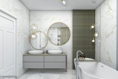 przytulna łazienka glamour