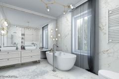 jasna, marmurowa łazienka