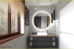 podświetlane lustro w łazience
