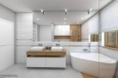 jasna nowoczesna łazienka