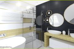 złoty kolor w łazience