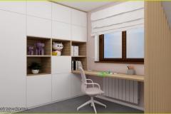 biurko pod oknem