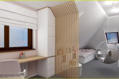 nowoczesny pokój dla dziewczynki