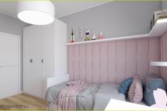 panele tapicerowwane w pokoju dziewczęcym