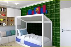 pokój-chłopięcy-łóżko-bramka