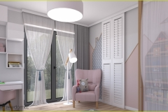 pokój dla dziewczynki z garderobą