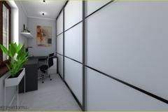 garderoba z miejscem do pracy