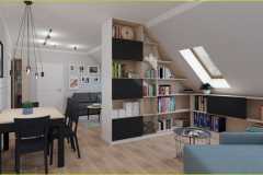 biblioteczka w salonie