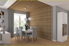 listwy drewniane w salonie