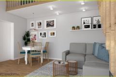 salon w delikatnych kolorach