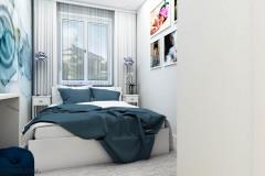 łóżko w małej sypialni