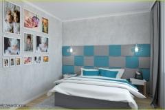 betonowa-tapeta-w-sypialni