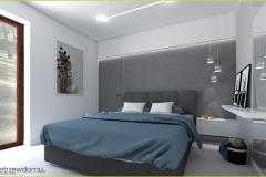 farba strukturalna beton w sypialni