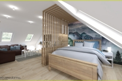 oddzielona sypialnia