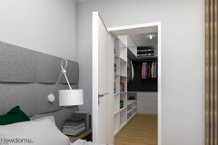sypialnia z garderobą